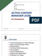 ACM Training - Introduction 315
