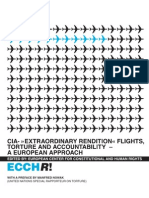 "ECCHR CIA  ""Extraordinary Rendition"", Flights, Torture and Accountability. A European Approach.  Second Edition"