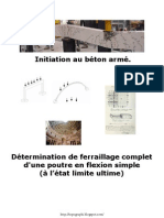 Determination Ferraillage Complet Poutre en Flexion Simple