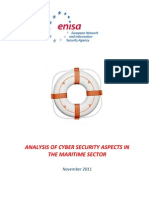 2011 ENISA Analysis of Cyber Security Aspects in the Maritime Sector 1 0