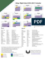 2012-2013 CHS Calendar