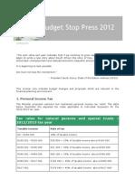 Budget Speech Feb 2012