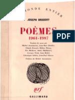 Brodsky - Poèmes 1961-1987 - 1987