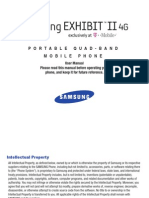 T-Mobile Samsung Exhibit II 4G Manual