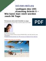 Insider Grundlagen des 100-1000 EuroCoaching Schritt 5 – Wie kann man reich werden :noch 96 Tage