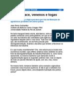 Sobre Alface, Venenos e Togas - Agrotóxicos - Venenos - Toxinas - Medicina Preventiva