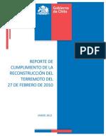 Reporte del Gobierno sobre la reconstrucción post 27/F