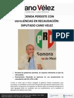 27-02-12 HACIENDA PERSISTE CON DEFICIENCIAS EN RECAUDACIÓN