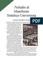 Preludio al Manifiesto Sintético-Universista