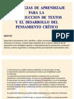 3. Estrategias de Aprendizaje Para La Construccion de Textos y Desarrollo Del to Critico