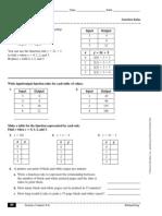 Function Table Reteaching