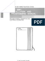 Manual de Instalación y Programación Central Samsung SKP-308H - scaneado original