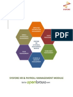 Sysfore HR & Payroll Module Version 1.0