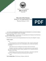 Feb 23 Senate impeachment court record