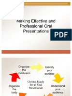 Making Effective and Professional Oral Presentations