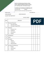 Borang Penilaian Manikayu IV - Lawatan