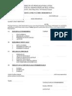 Borang Peringkat II - Rekod Latihan Sambil Berkhidmat