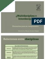 7 Multidisciplina o Interdisciplina 2006 NOD 2007 Y 2008