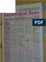 Employment News online e paper | Rojgar Samachar रोजगार समाचार New Delhi 25 February - 2 March 2012 Vol. XXXVI No. 48