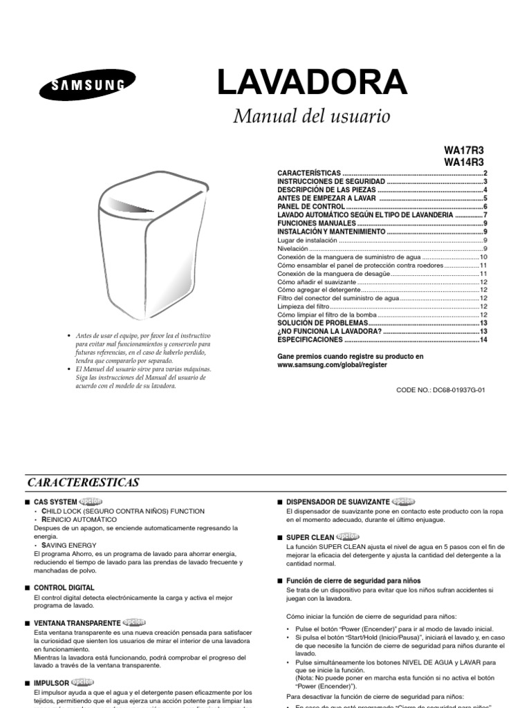 Manual Lavadora Samsung