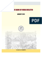 Reserve Bank of India Bulletin August 2011 Volume Lxv Number 8
