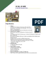 Mainboard AV40