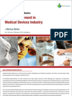 Risk Management in Medical Devices Industry Seminar Brochure