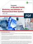 Validation of Pharmaceutical Water Systems Seminar Brochure