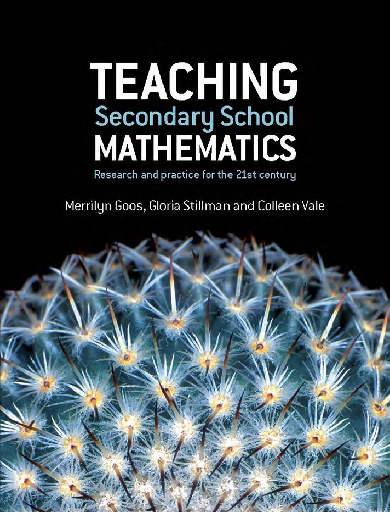 Goos - Teaching Secondary School Mathematics (Allen, 2007 ...