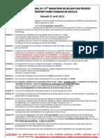 Règlement du marathon 2012