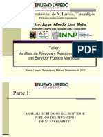 """""""Taller de Análisis de Riesgos y Responsabilidades del Servidor Público Municipal de N. Laredo""""."""