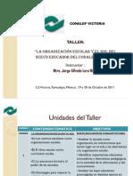 """""""La Organización escolar y el rol del nuevo educador del CONALEP Victoria""""."""