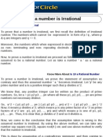 Prove a Number is Irrational
