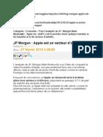 APPLE AAPL JP Morgan - Apple est un secteur d'activité