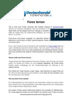 Forex Lernen