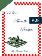 Kruse Cookbook