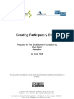 Creating Participatory Events