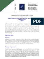 European Paritarian Institution of Social Protection (EPISP) 2001_12_17_aeip