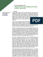 Pandangan SPI terhadap kebijakan pertanian sepanjang tahun 2008