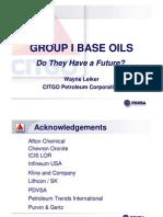 Group I Base Oils