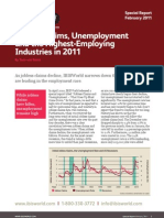Highest-Employing Industries in 2011