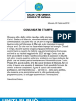 Salvatore Ombra - Comunicato Stampa Carini