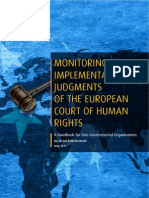MONITORING THE IMPLEMENTATION OF JUDGMENTS OF THE EUROPEAN COURT OF HUMAN RIGHTS - A Handbook for Non-Governmental Organisations