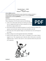 (Www.entrance-exam.net)-ICSE Class X English Literature Sample Paper 7