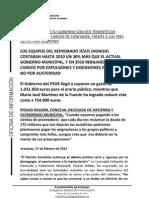 LOS COSTES DE LOS GOBIERNOS DE DIONISIO