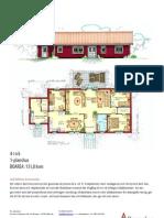 Hus i ett plan