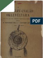 Radvánszky Béla-A Héderváry család oklevéltára 1. 1909.