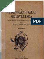 Radvánszky Béla-A Héderváry család oklevéltára 2. 1922.