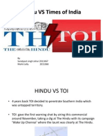 Hindu vs Times of India