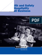 Health and Safety for Hospitality -Small Business